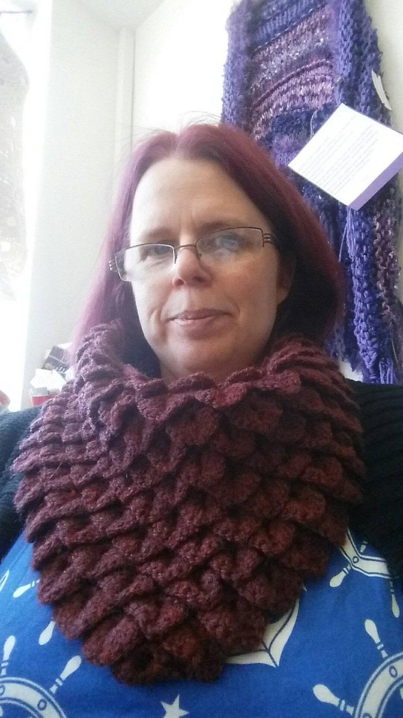 Dragonscale cowl  dragonscale scarf  dragonscale neckwarmer image 0
