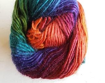 Cygnet boho spirit acrylic yarn, 100g, premium acrylic, mojo, dark rainbow yarn, double knitting,