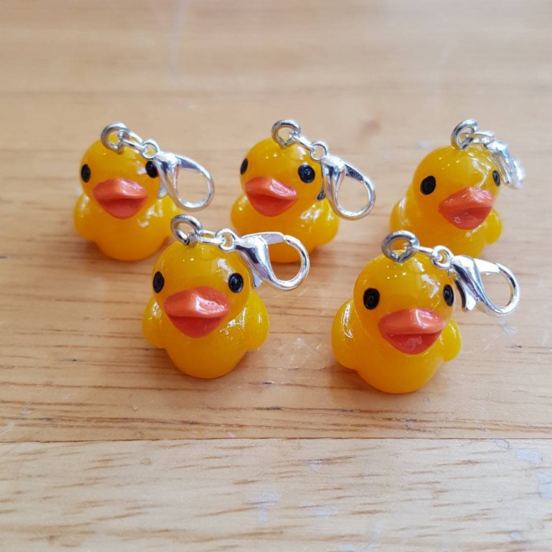 Rubber duck Stitch Markers stitch markers for crochet yellow image 0