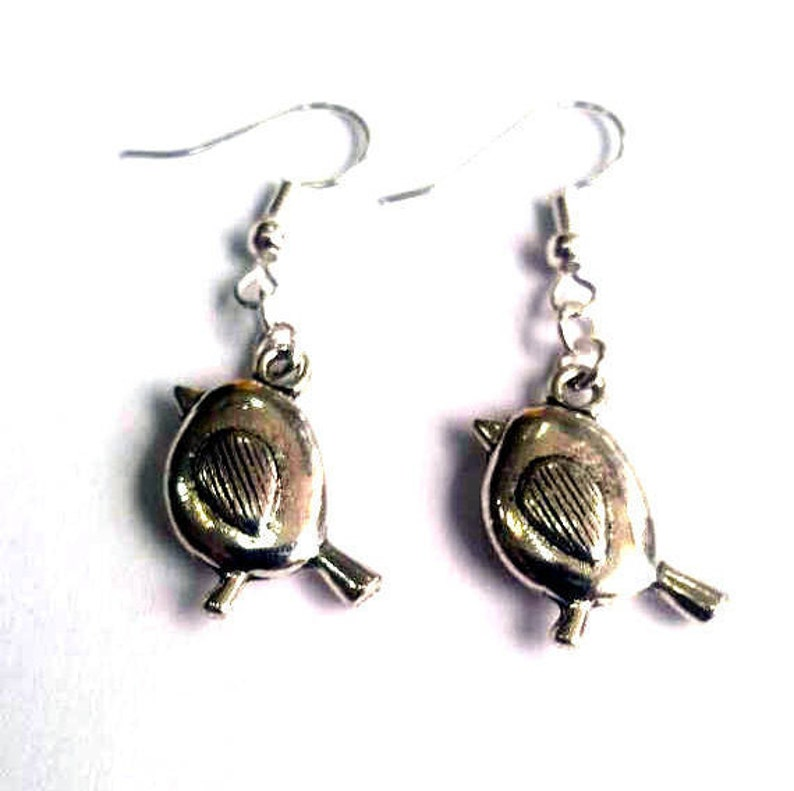 Robin earrings  bird earrings  Christmas earrings image 0