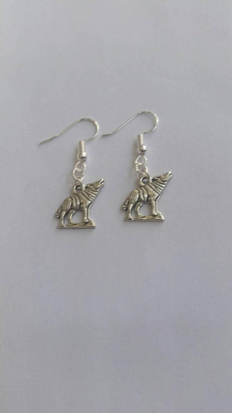 werewolf earrings  wolf earrings  twilight earrings  dog image 0