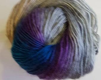 Cygnet boho spirit acrylic yarn, 100g, premium acrylic, chic, blue and purple, double knitting, peacock,