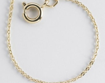Brass 1mm 18 in Cable Chain