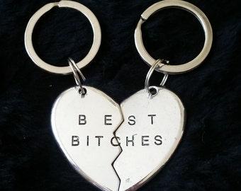 Best Bitches Keychain Set   Gift for Best Friend   Best Friend Gift   Best Friends Keychain Set