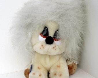 Vintage Applause Sad Big Eye Clive Sheepdog Sheep Dog Stuffed Plush Toy Animal