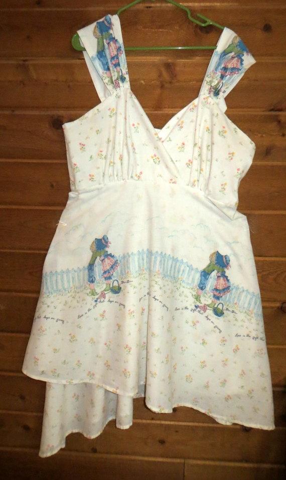 Vintage Holly Hobbie Handkerchief Dress Sundress P