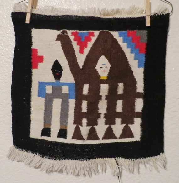 small woven wall hanging woven tray decorative woven wall.htm vintage small miniature tribal rug wall hanging rug with llama etsy  small miniature tribal rug wall hanging