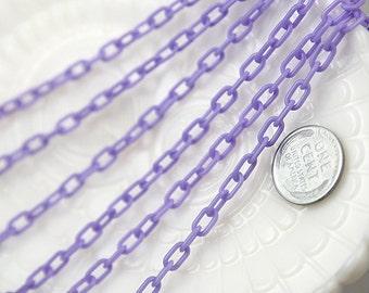 Plastic Chain - 7mm Delicate Plastic Purple Chain - 55 inches or 140 cm - 2 pieces