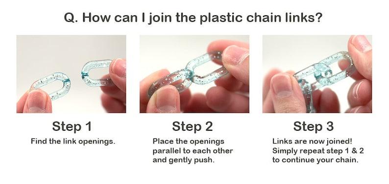 40 pc set Plastic Chain Links Light Purple 18mm Pastel Plastic Chain Links