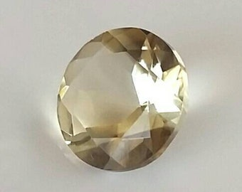 Lemon Quartz - Lemon Citrine -  Loose Gemstone - Lemon Quartz Engagement Stone - Round Citrine - Ring Stone - Lemon Citrine