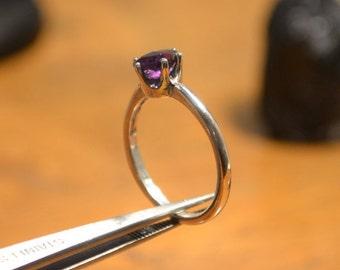 Amethyst Ring - Amethyst Statement Ring - Amethyst Gemstone Ring - February Birthstone - Amethyst Oval Cut Ring - Amethyst Ring Size 7 Ring