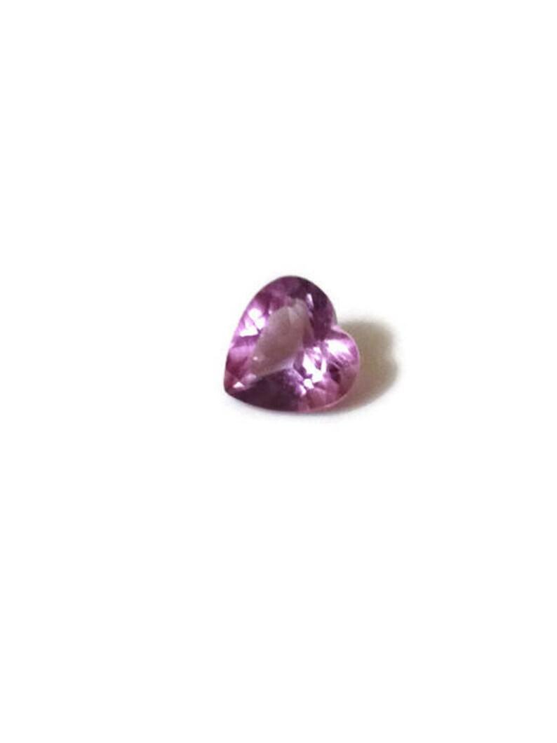 Heart Stone Amethyst Loose Gemstone Ring Stone Heart Cut image 0