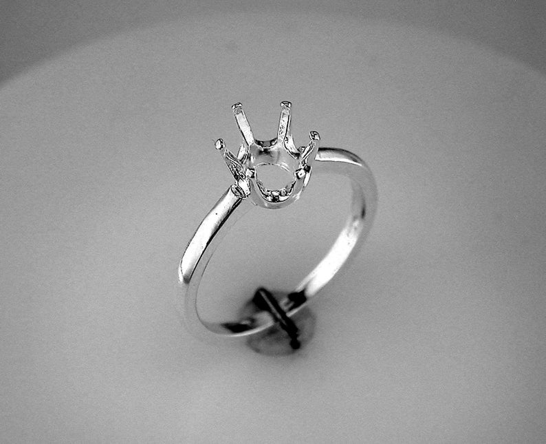 Oval Cut Ring Setting Ring Casting Oval Cut Ring Sterling image 0