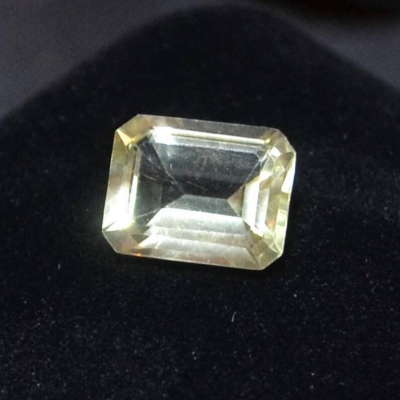 Citrine Loose Gemstone Emerald Cut Ring Stone Pendant Stone image 0