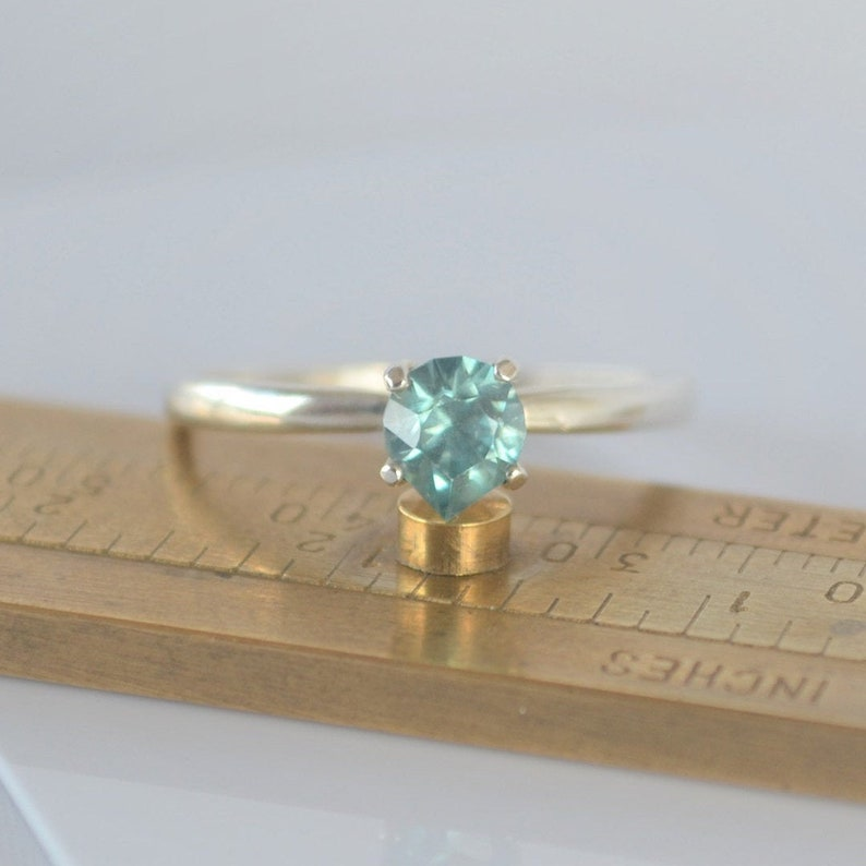 Blue Zircon Ring  Blue Zircon Engagement Ring  Blue Zircon image 0