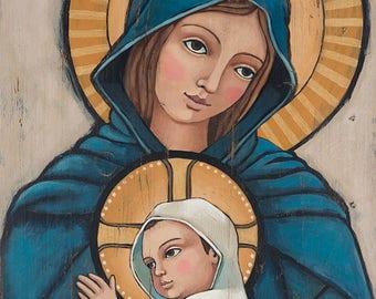 Home Decor | Wall Art |  | 7x14 | Divine Grace | print on wood | Teresa Kogut