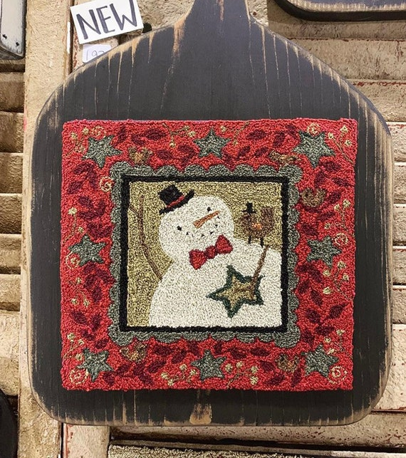 Believe Christmas Santa Punchneedle Punch Needle Embroidery Teresa Kogut Pattern PN132