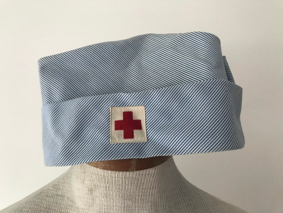 1950/60s Nurse Cap Vintage American Red Cross hat