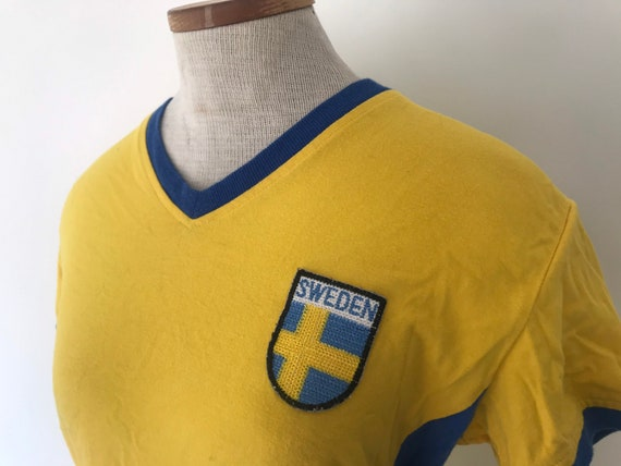1970s Sweden retro reproduction soccer football sp