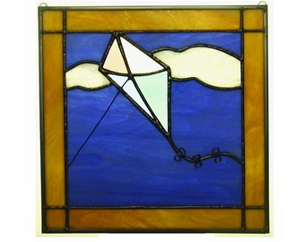 """March 12"""" X 12"""" Stained Glass Kite Quilt Block Pattern PDF B&W Digital Download"""