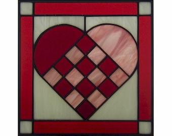 "February 12"" X 12"" Stained Glass ""Swedish"" Quilt Block Pattern PDF B&W Digital Download"