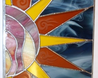 "Stained Glass 12"" X 18"" ""Native Sun"" Pattern PDF B&W Digital Download"