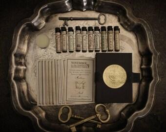 Deluxe Perfume Oil Sampler - mini variety set of botanical scents - For Strange Women - Natural Perfume Gift Set
