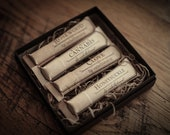 Lip Balm Tube Gift Set - Welcome to the Forest™ - Rosewood, Honeysuckle, Wild Mint & Cannabis and Clove - by For Strange Women