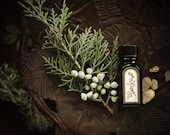Winter Kitty™- natural perfume oil with vanilla, rose, douglas fir, snow, fireplace smoke, amber, vetiver