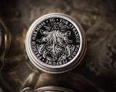 French Oakmoss - Natural Dark and Earthy Perfume - Solid Perfume tin with lavender, violet, earthy, mossy dirty lichen, and beeswax