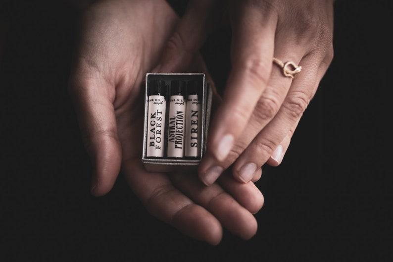 Natural Perfume Oil  Samples  Choose 3  For Strange Women image 0
