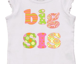 Big Sister Shirt Girl Tshirt by Mumsy Goose I'm a big sister shirt