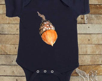 Baby Bodysuit Acorn Baby Shirt  Great for new dads  by Mumsy Goose