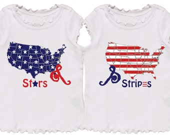 4th of July Twin T Shirts by Mumsy Goose
