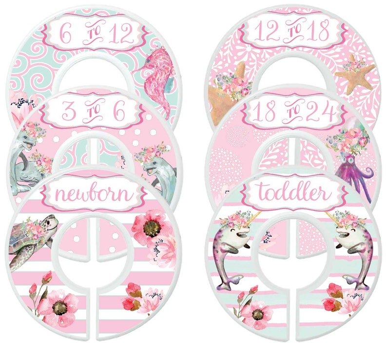 79455d939a1bc Baby Closet Dividers Closet Organizers Girl Floral Closet