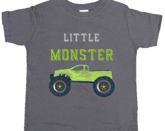 Funny Boy Shirt Monster Truck Tshirt Boy truck Bodysuit by Mumsy Goose