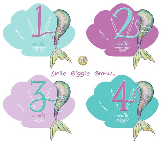 Baby Girl Boy 1-12 Monthly Sticker Label Birthday Party Baby Shower Photo Prop
