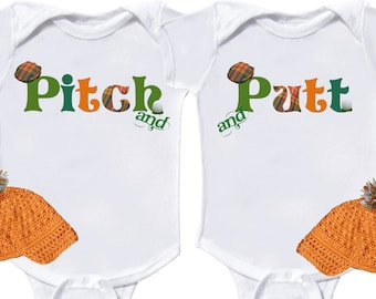 Funny Twin Baby Boys Golf Rompers by Mumsy Goose Newborn Golf Creepers to Kids tees Twin Baby bodysuits