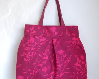 Mulberry Wildflowers Fabric Large Road Trip / Weekender Bag - READY TO SHIP