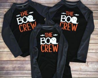 The BOO Crew, halloween shirt, kids halloween shirt