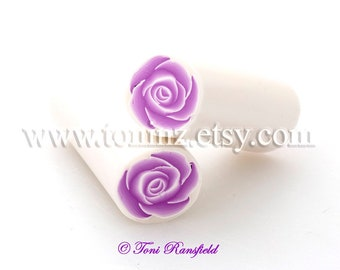 Dusty Pink Rose Polymer Clay Cane, Raw Polymer Clay Cane, Nail Art