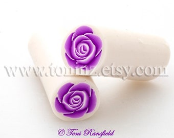 Deep Pink Rose Polymer Clay Cane, Raw Polymer Clay Cane, Nail Art