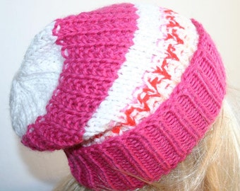 Special offer - Very Cool Children Hand Knitted  Slouchy  Hat/Beanie