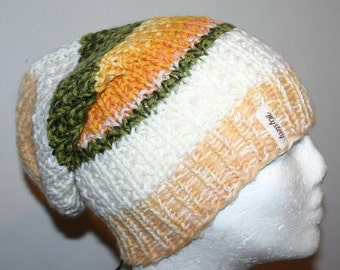 Special offer - Very Cool  Unisex Hand Knitted  Slouchy  Hat/Beanie S-M