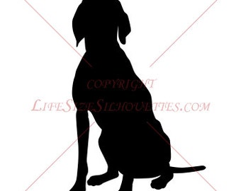 DOG Vinyl Decal, High Quality Detailed Wall Vinyl Silhouette, Wall Decal 48