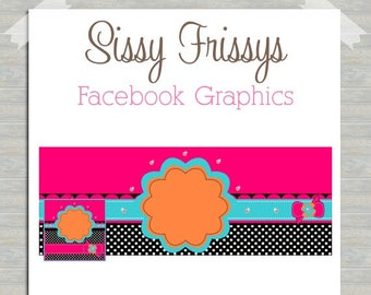 INSTANT DOWNLOAD - Premade Facebook Timeline Cover Photo Design - Facebook Profile Picture - Blank Facebook Graphics - DIY Facebook Pics
