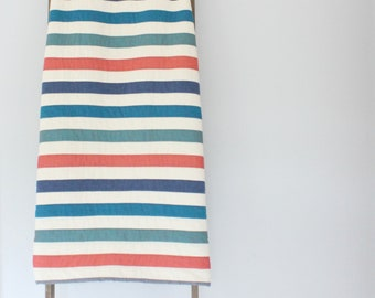 Custom Made-to-Order Throw or Bed Quilt - Simple Stripes, Colors of Your Choosing