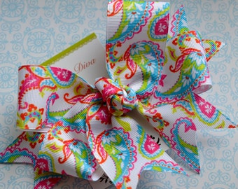M2M Lilly Paisley XL Diva Bow