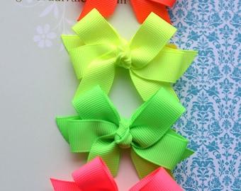 Neon Brights MINI Diva Bow Set