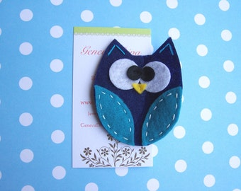 BiG EyEd OwL......Navy and Turquoise
